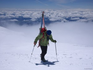 hiking to Mt. Adams summit