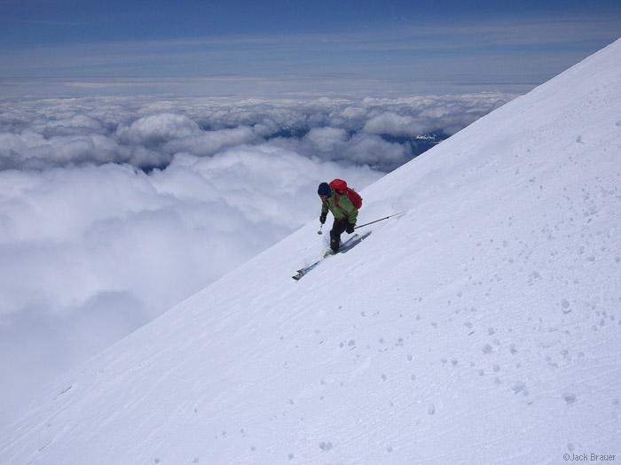 Skiing Mt. Adams