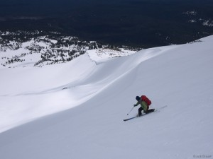 Skiing Mt. Adams