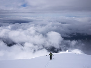 Hiking Mt. St. Helens above the clouds