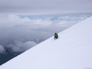 Skiing Mt. St. Helens