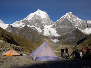 camp at carhuacocha