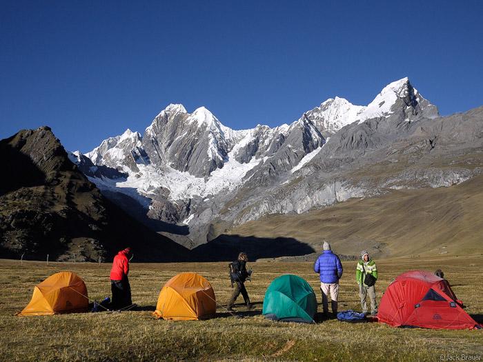 Janca camp with Jirishanca