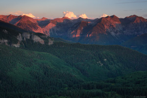 Alpenglow above Telluride, Colorado