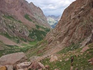 hiking in the Needle Mountains, Colorado