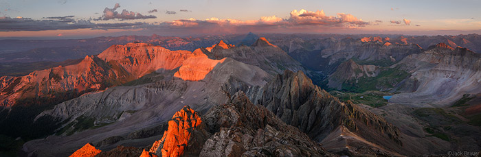 Panorama from Sneffels Summit
