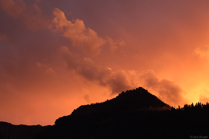 Sunset over Ouray, Colorado