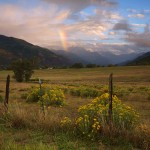 Rainbow sunset in Ridgway, Colorado