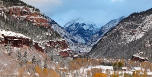 First snow in Ouray, Colorado