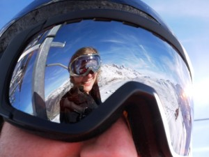 goggle reflection