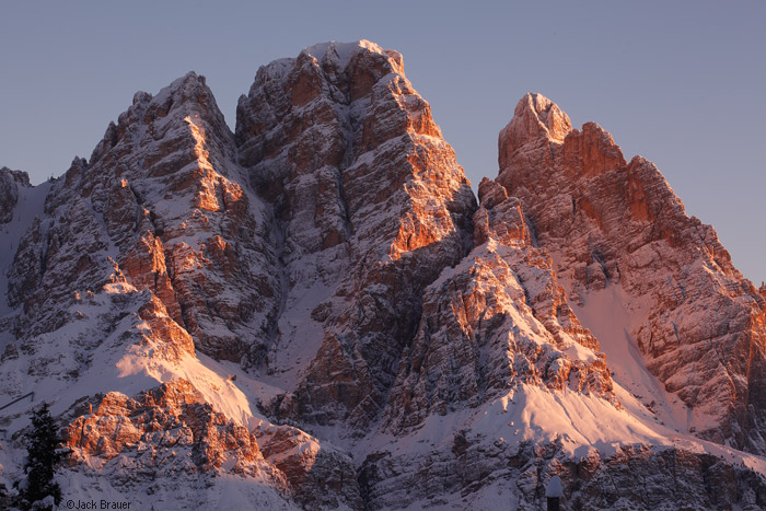 Sunrise on Cristallo, Dolomites