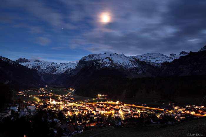 Moon over Engelberg, Switzerland