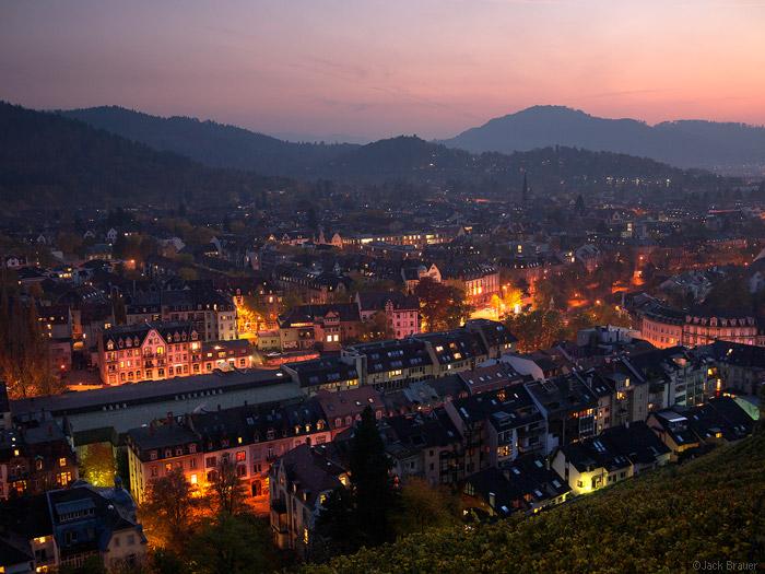 Evening in Freiburg, Germany