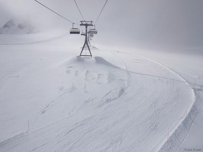 Ski lifts at Zermatt, Switzerland