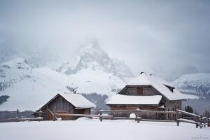 Malga Bocche in the winter, Italy
