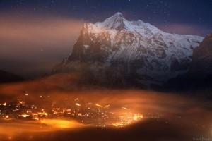 Grindelwald and Wetterhorn, Switzerland