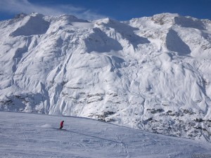 Skiing at Obergurgl, Austria