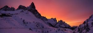 Pale di San Martino sunrise, Dolomites, Italy