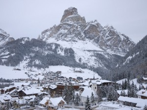 Corvara, Italy in the winter