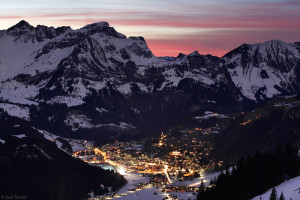 Sunset above Engelberg, Switzerland