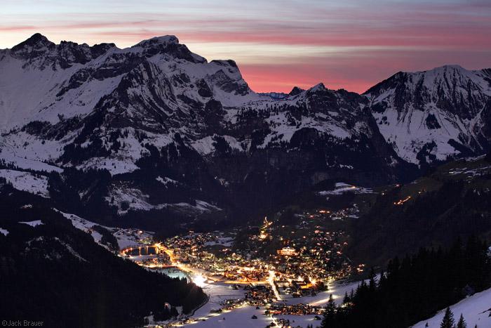 Sunset above Engelberg, Switzerland