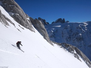 Skier in the Swiss Alps