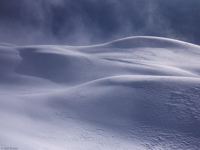 Snow drifts in Switzerland