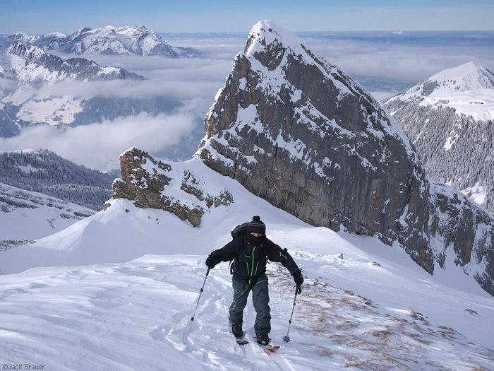 Splitboarding in the Swiss Alps