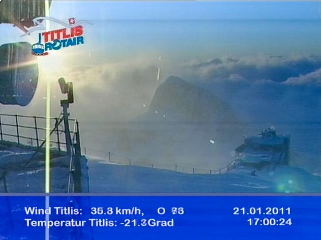 Titlis webcam sunset