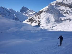 Skiing in Blacken, Switzerland