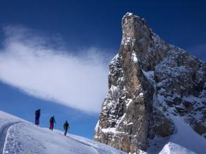 Skinning above Engelberg, Switzerland