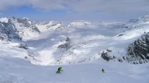 Snowboarding the Steinberg Glacier, Engelberg, Switzerland