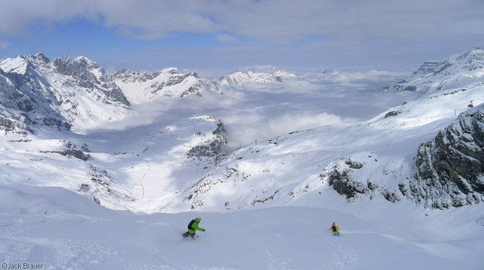 Snowboarding the Steinberg Glacier, Engelberg, Switzerland