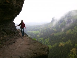 Hiking in the Elbsandstein mountains, Germany