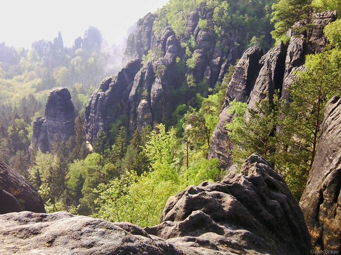 Elbsandstein sandstone mountains near Dresden, Germany