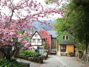 Elbsandstein village, Germany