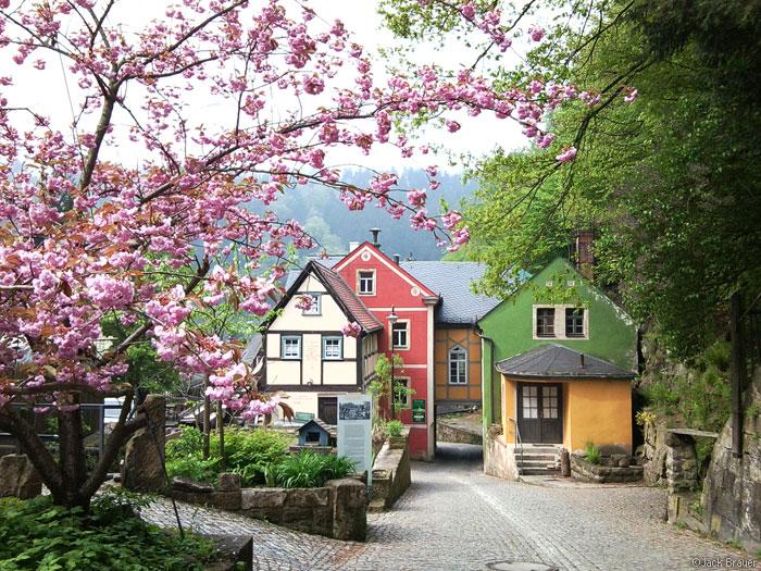 Schmilka village, Germany