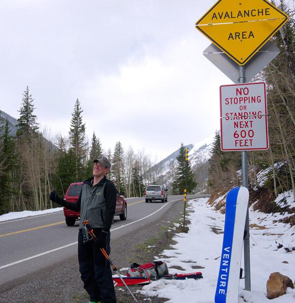 Bad hitchhiking spot