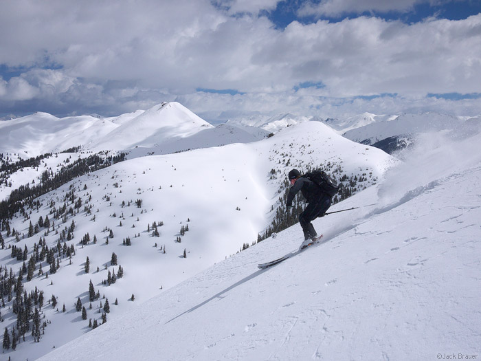 Backcountry skiing in the San Juan Mountains, Colorado
