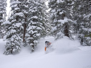 Deep powder in May, Colorado