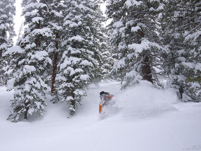 Deep powder in May, Colorado