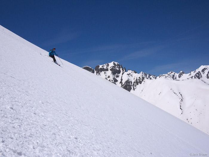 Skiing in the San Juan Mountains, Colorado