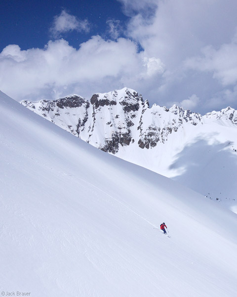 Spring skiing in the San Juans, Colorado, May
