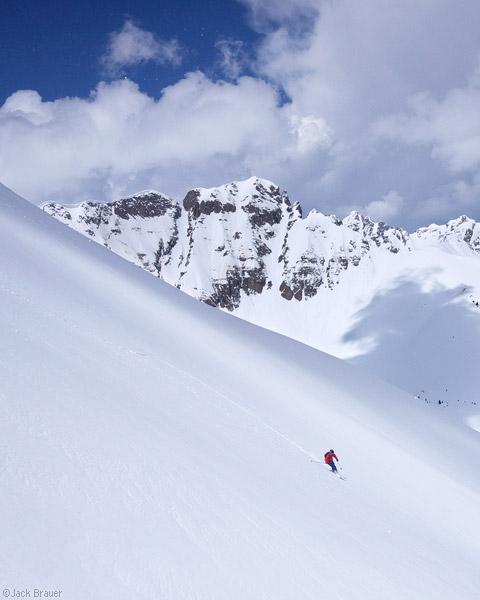 Spring skiing in the San Juans, Colorado, May