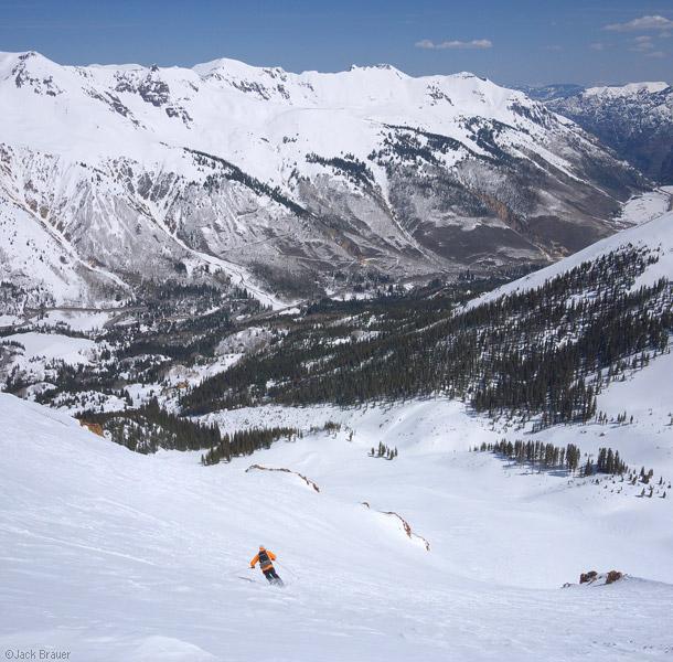 Skiing in the San Juans, Colorado