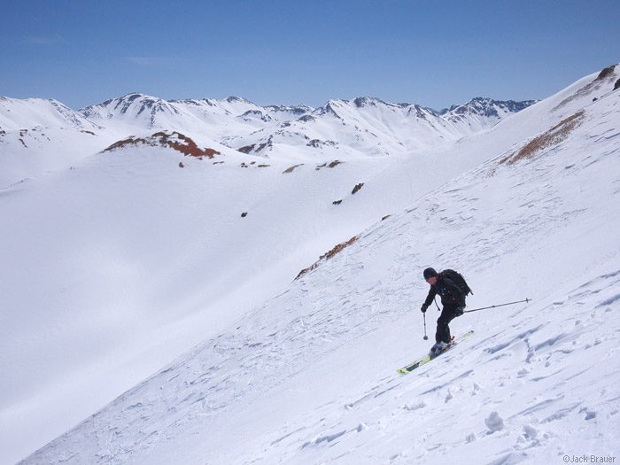 Skiing in the San Juans, Colorado