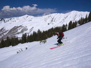 Spring skiing in the Elk Mountains, Colorado, May