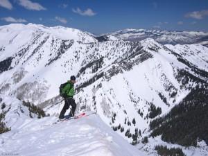 Ann Driggers on summit, Colorado