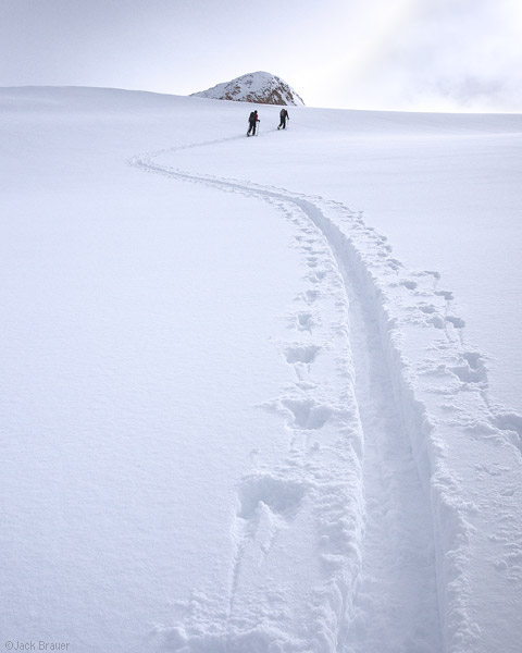 Skinning through powder, Colorado