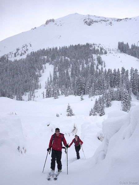 Happy skiers in the San Juans